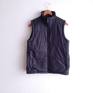 COLUMBIA puffer black vest with zippered pockets